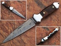 Details about  Combat Hunting full tang Tactical Knife Double Edge Dagger with wooden handle