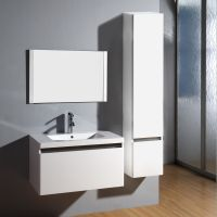 SIMBLE Brand white waterproof bathroom cabinet, bathroom high glossy wall mounted vanity cabinet