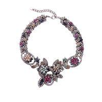 Gorgeous Diamond Flower Statement Necklaces