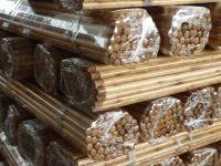 Natural wood sticks for snow shovel handle/long wood mop stick poles