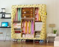 Portable Clothes Closet Wardrobe Garment Organizer Coat Storage