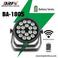 Wireless Waterproof Battery Powered PAR Can Lights 18*5 W