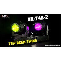 75W Beam Twins Moving Head Lights