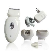 Rechargeable hair epilator with 3 changeable heads