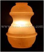 "Fancy Pot Shape Salt Lamp - 5""x5""x7"""