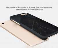 Natural texture and Comfort grab feel Black Marquina marble best slim case for iphone7