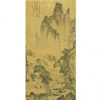 Famous Chinese painting in Chinese imperial palace