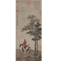 Traditional Chinese painting in Chinese imperial palace