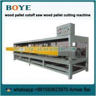wood pallet stringer circular end trim saw cut off sawing machine