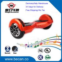 UL self balancing two-wheel electric scooter with LED light and bluetooth, smart balancing hoverboard