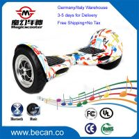 CE RoHS FCC UL 2 wheel electric standing scooter, smart wheel hoverboard self balancing