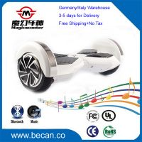 1 year warranty Music Bluetooth+LED 2 wheels balancing electric scooter, Hoverboard bluetooth