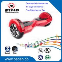 two wheel skateboard, hoverboard with LED and Bluetooth CE RoHS