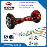 10 inch self balancing two wheels electric scooter, LED+Bluetooth hoverboard