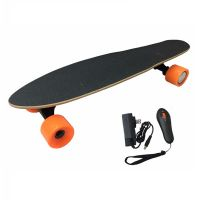 electric skateboard 4 wheel, remote control 18km/h rechargeable battery electric skateboard