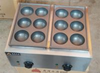 GAS fish grill machine for sell/stainless steel octopus balls machine