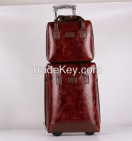 "20"" upright PU Luggage with 14"" handbag"
