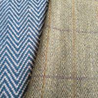 tweed herringbone wool fabric for coat