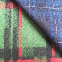wool blend fabric, tartan wool fabric
