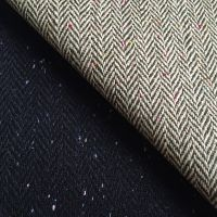 woven tweed fabric wool 50% polyester 50%