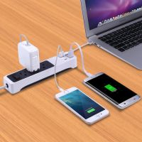 XStrip Type C 3 Gang Surge Protected US Power Strip with USB Charging