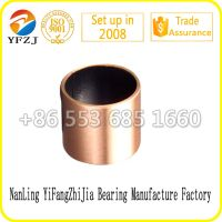 SF-1B PTFE coated bronze backing DU bushing oilless dry bush self-lubricated ptfe coated dry bronze bush