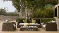 Wicker Outdoor Rattan Sofa Set - Patio Furniture - Poly Rattan Living Room Sofa Set Outdoor Furniture