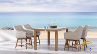 Newest modern resin rattan wicker dining room furniture - Poly Rattan Outdoor Dining set furniture