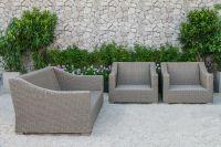 New Modern Patio Resin Wicker Rattan Furniture Sofa Set - Outdoor Garden Sofa Set Furniture