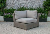 Wicker Wooden Rattan Outdoor Living Sofa Set furniture - Patio Wicker PE rattan sofa set garden furniture