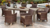 Resin Wicker Rattan Outdoor Dining Set Furniture- Poly PE Rattan Dining Room Furniture