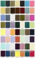 colour swatch satin finished ribbon color analysis card for wedding dress fabric selection
