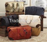 custom cotton canvas travel Duffle weekender bag/canvas duffel bag/cot
