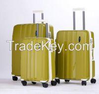 Hardside spinner polypropylene 22, 26, 30 inches PP luggage sets hard sh
