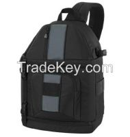 High quality nylon camera bags/backpacks with interior removable paddi
