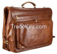 Luxury leather Suit / Garment Carrier/travel suit carrier/garment leat
