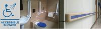 handicapped bathroom grab bars and hospital handrails
