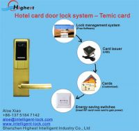 Temic Electronics Dubai Style Hotel Door Lock Key Cards