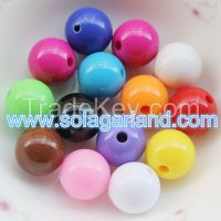 Wholesale Acrylic Opaque Round Beads Loose Spacer Beads Charms