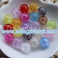 Wholesale Stunning DIY Decoration Acrylic Crystal Round Crack Beads