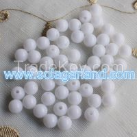 New Fashional 6-30 MM Acrylic Round Snow White Beads Loose Spacer Bead
