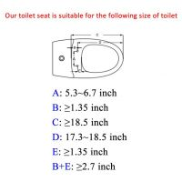 Minixi Auto-Lifting Toilet Seat, Self-Raising Toilet Seat, Self Moving Up, self lifting toilet seat