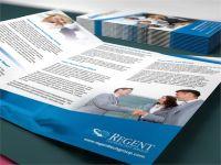 Custom four colors printing brochures