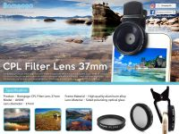 Bomgogo CPL Filter Lens 37mm for smartphone use