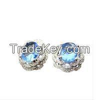 Latest Fancy Tops 925 Silver  Gemstone Earring