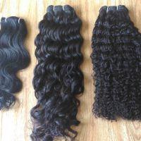 Machine Weft curly/wavy hair, 100% human hair, 100% virgin hair