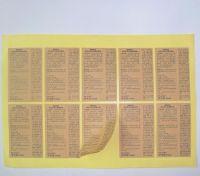 Woodfree Label, Blank Paper Label, Kraft Paper Label, Jewelry Label, Warning Sticker