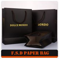 Free Design Logo Print Portable Paper Bag With Handle