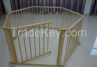 wooden baby playpen