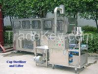 Bottle cap sterilizer and lifter